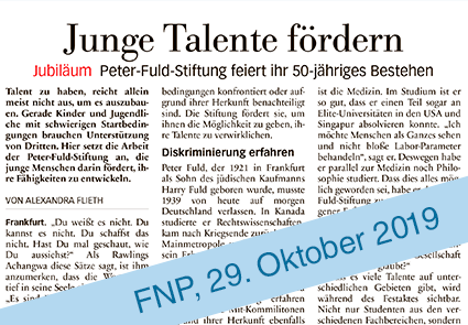 FNP 50 Jahre Peter Fuld Stiftung2
